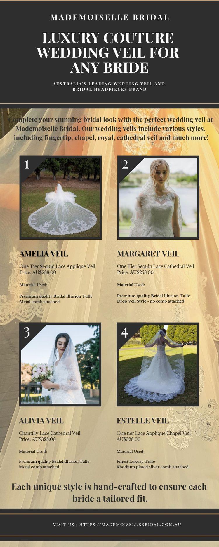 Luxury Couture Wedding Veil  - mademoisellebridal   ello
