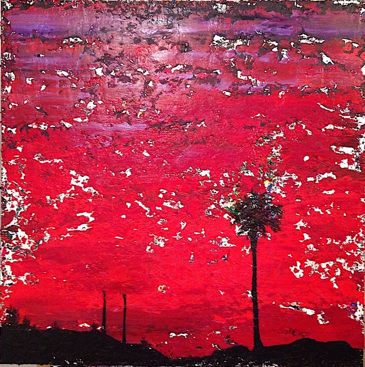 """Years blood red sky 36""""x36"""" 201 - nuisms 