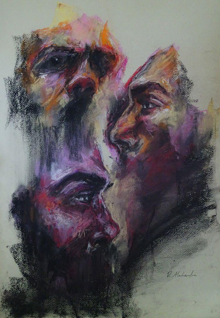 Silent conversation. Oil canvas - alahendra | ello