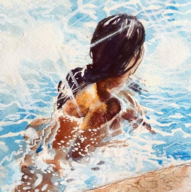 watercolor study cover Tyler Cr - kennyroutt | ello