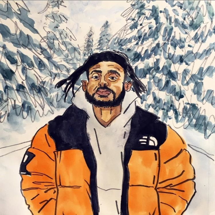 Lil drawing Aminé  - hiphop, aminé - kennyroutt | ello