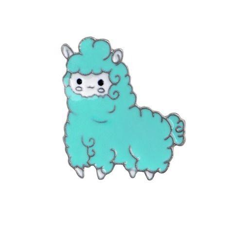 🦙 Llama Drama Blue Pink pins we - keyleygrahamdesigns | ello
