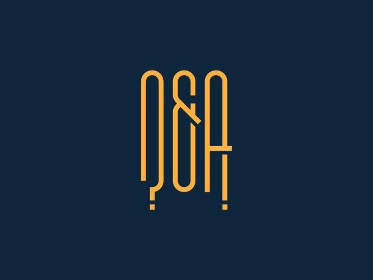QA - ?! logo design - qa, type, ampersand - rod_luebbert | ello