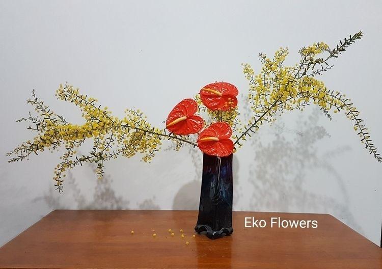 Simply red yellow ♡ - anthurium - ekoflowers | ello