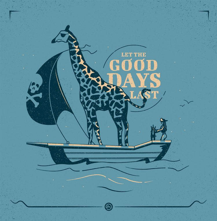 good days :)  - illustration, giraffe - jessienewhouse | ello