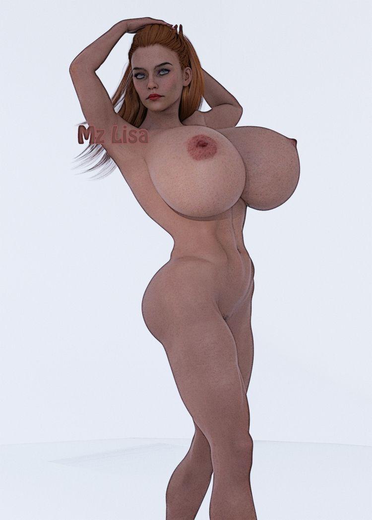 Huge, Breasts, tits, Nude, Daz3d - fetish3dart | ello
