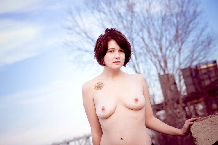 nsfw, outdoors, topless, blueeyes - heycalvin   ello