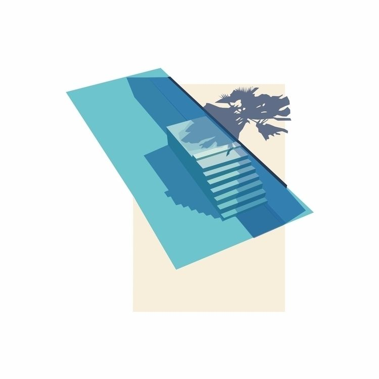 illustration, architecture, pool - sophieillustration | ello