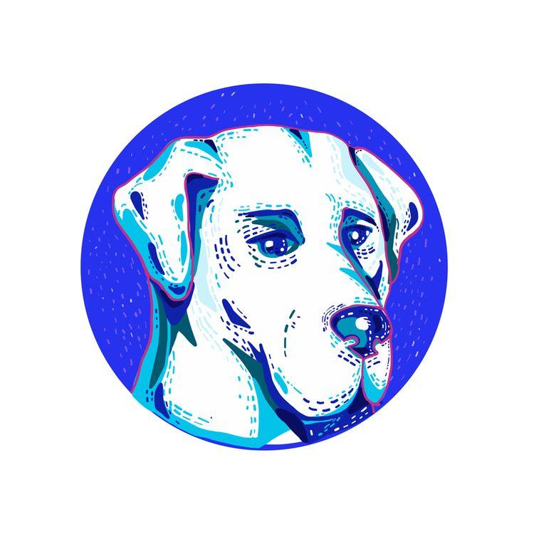 Labrador Retriever Dog Doodle C - patrimonio | ello