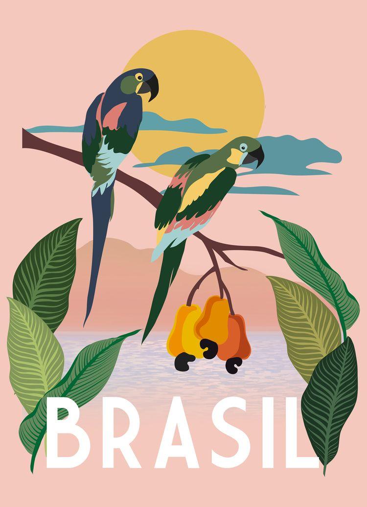 Illustration inspired Brazil la - tatadart | ello