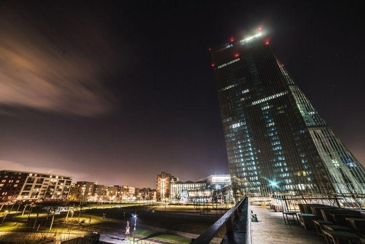 ECB, Frankfurt night - frankfurt - cyb3rc0de   ello