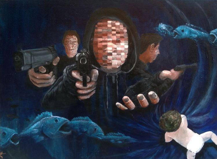 - -- Acrylic Canvas - ello, elloart - juliogvvc | ello