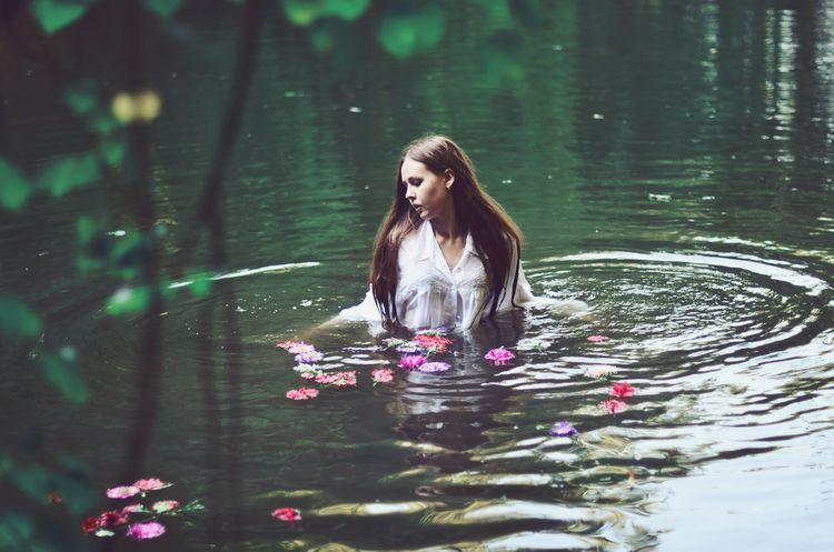 Flower River - girl, water, river - kirillpanfilov   ello