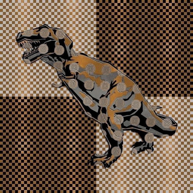 Retro Dino Deco - zuzugraphics | ello