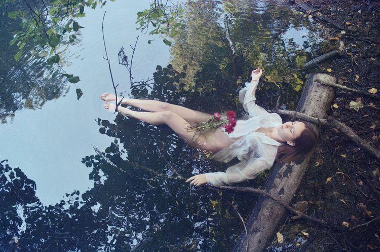 Watermaid II - girl, water, flowers - kirillpanfilov | ello
