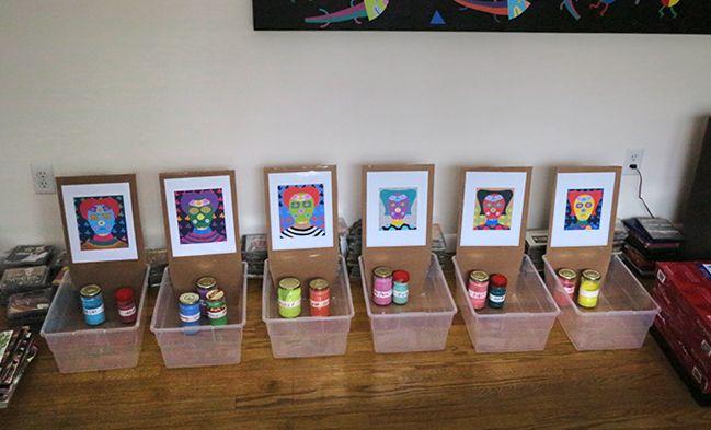 paint containers set 6 painting - patrou | ello