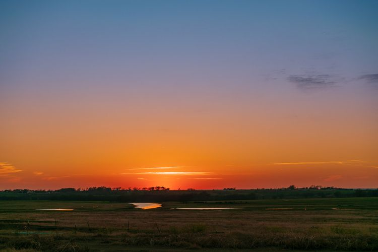 Sunset Farm sun sets farm town  - 75centralphotography | ello