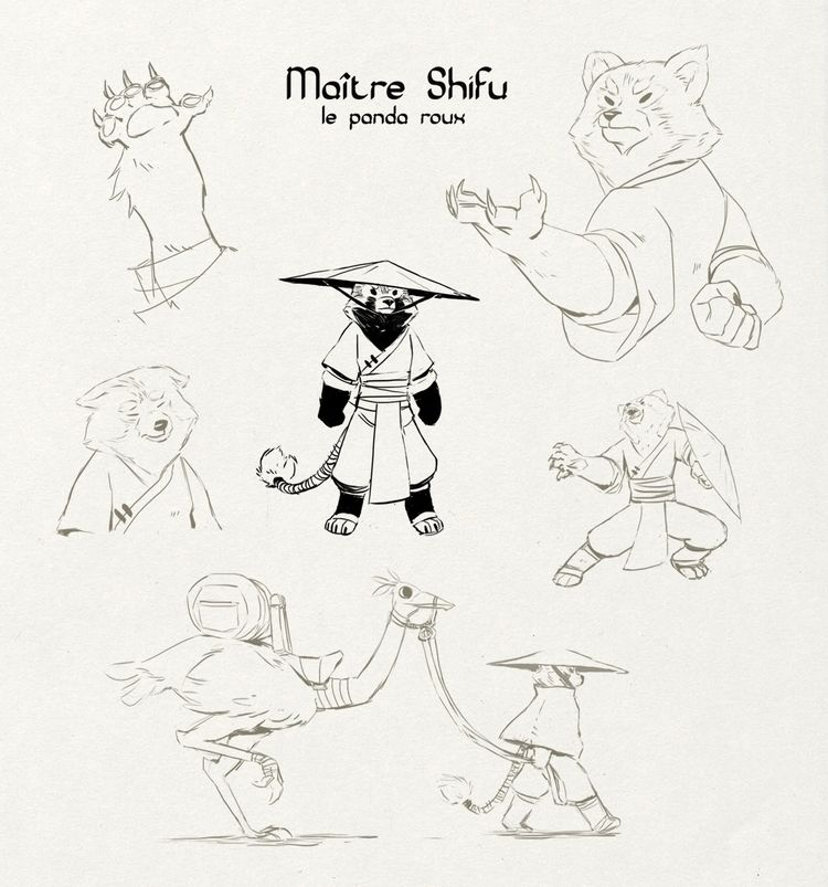 Master Shifu Red Panda - concept_art - supersonic_fury | ello