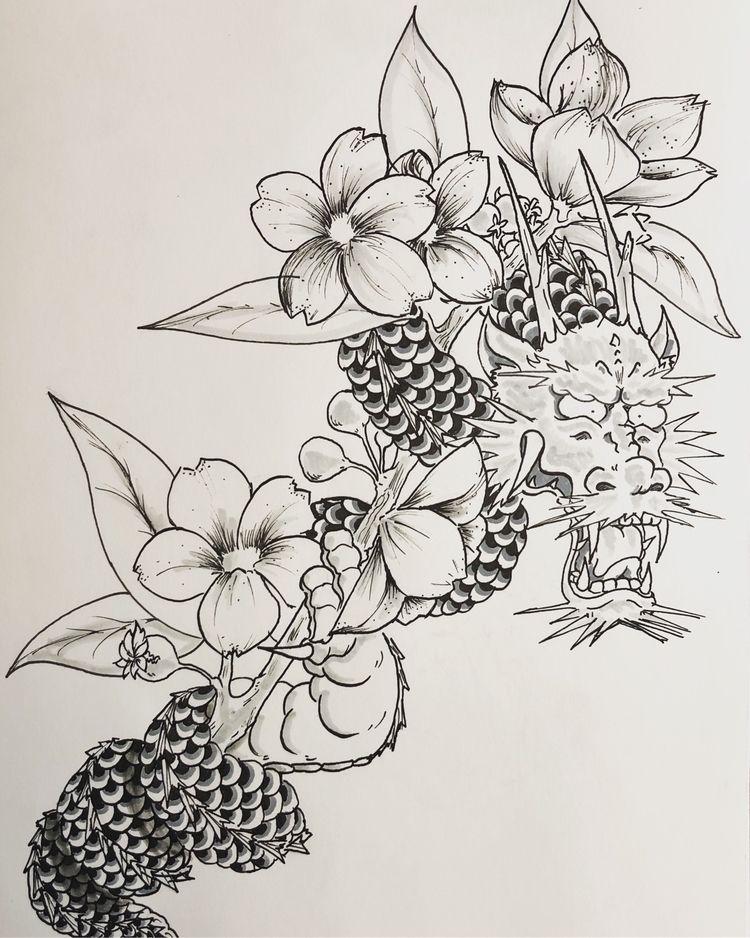 dragon tattoo - kadjandraw | ello
