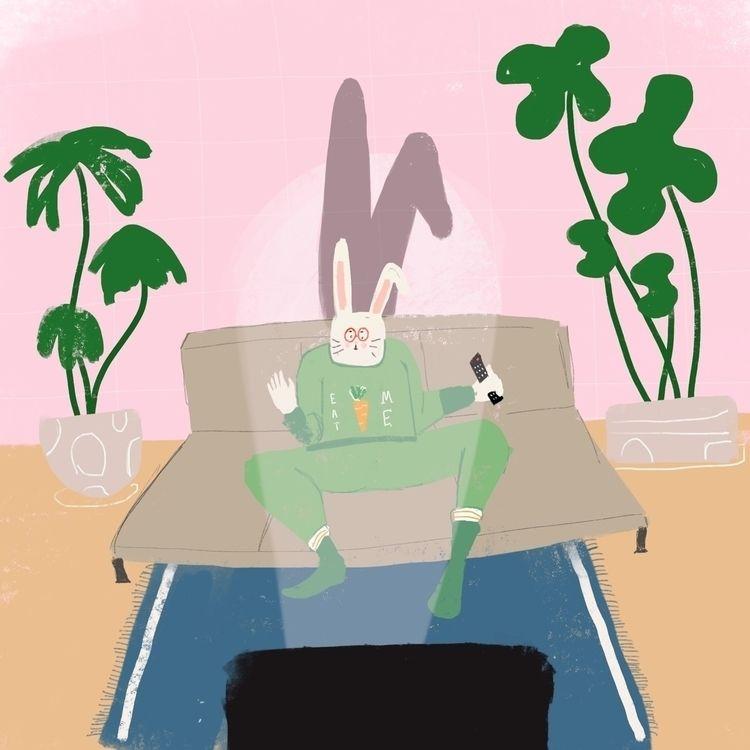 Bunny night - evigeo | ello