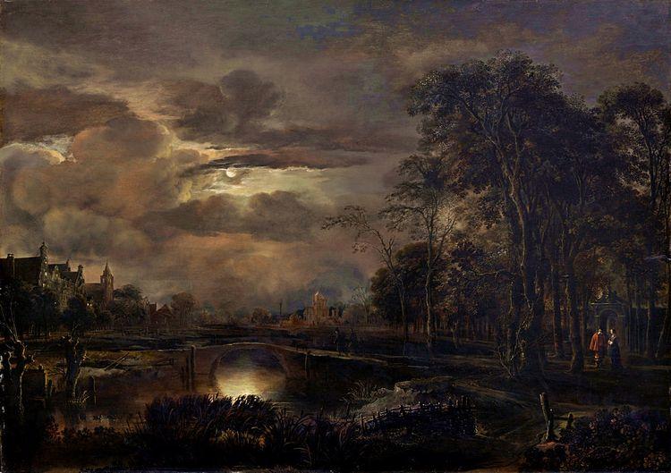 Moonlit Landscape Bridge, Aert  - zorrojacques | ello