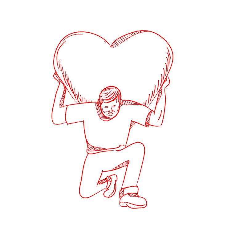 Modern Atlas Lifting Heart Draw - patrimonio | ello