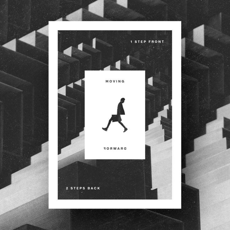 Walk - poster, collage, type, design - vissotto | ello