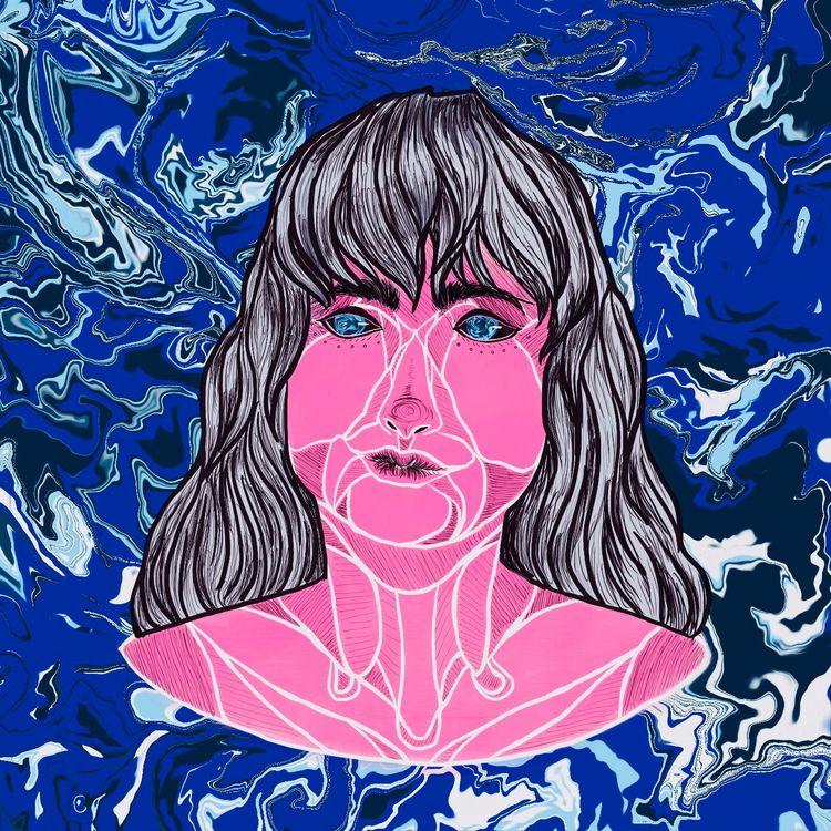 Galaxy Girl - ocean, water, pink - seaofsirens | ello