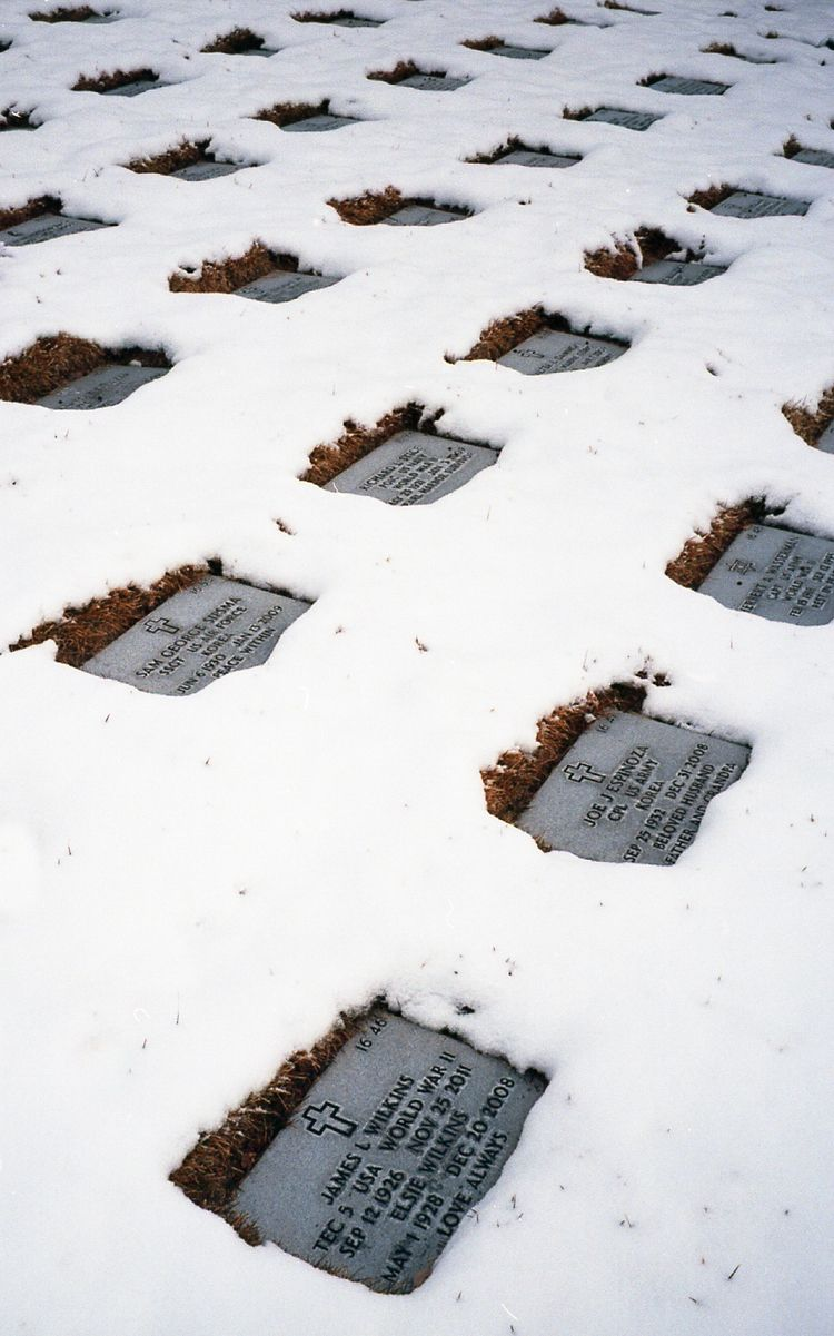 Santa Fe National Cemetery snow - ty-photo | ello
