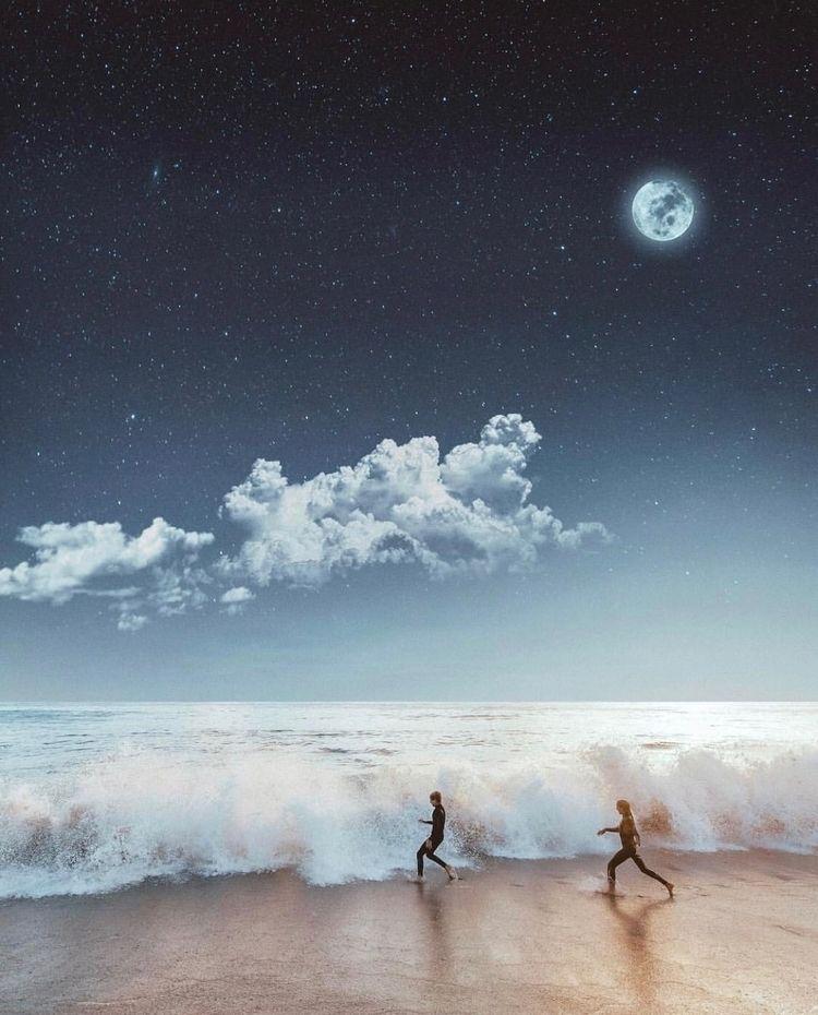 Nature pleased simplicity!  - moon - nick_asphodel | ello