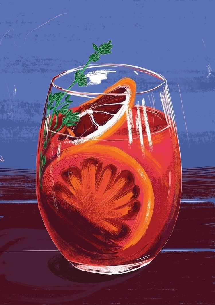 Negroni - illustration, illustrations - tomscampsite   ello