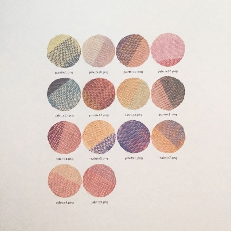pattern, textiles, colour, palette - taumii | ello