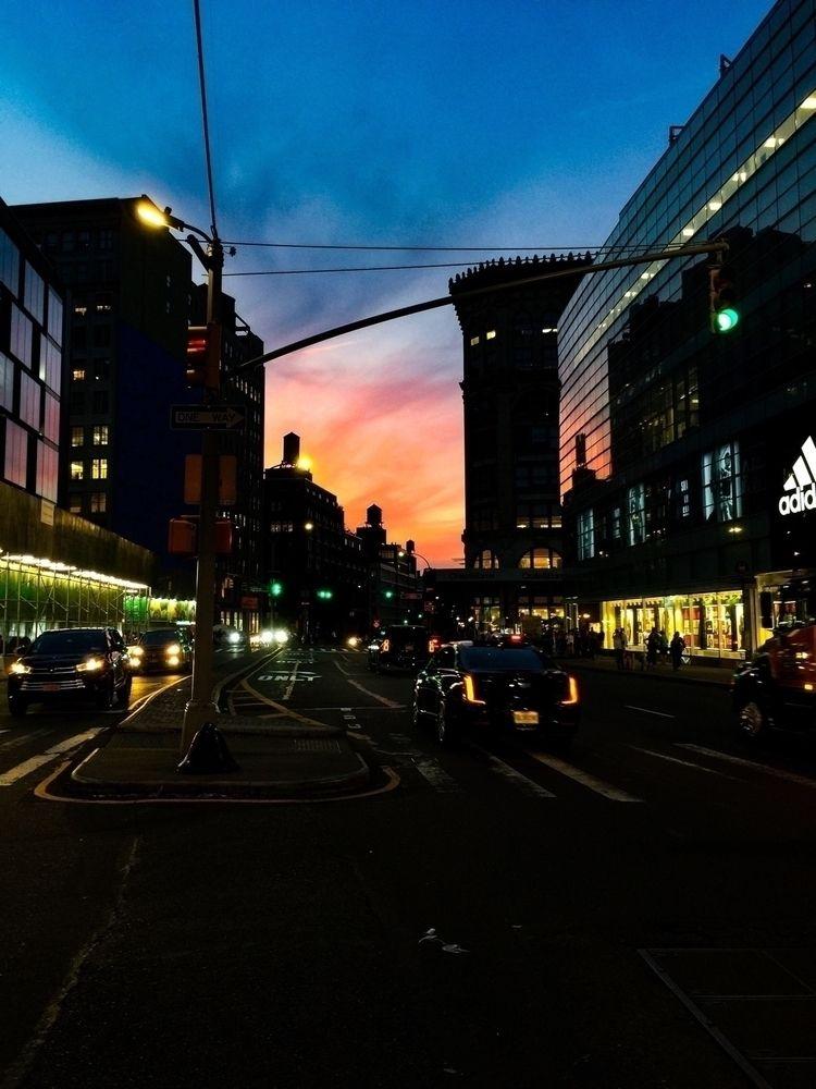Houston Street // Sunset — NYC - lilgingah   ello