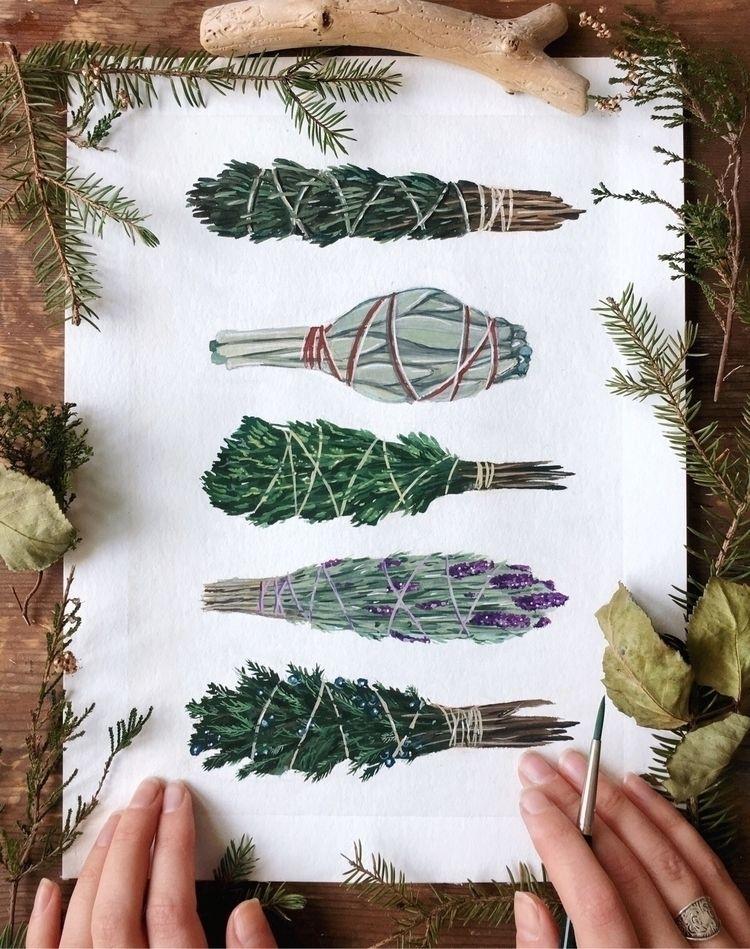 smudge sticks', painted today.  - jonnasjoblom | ello