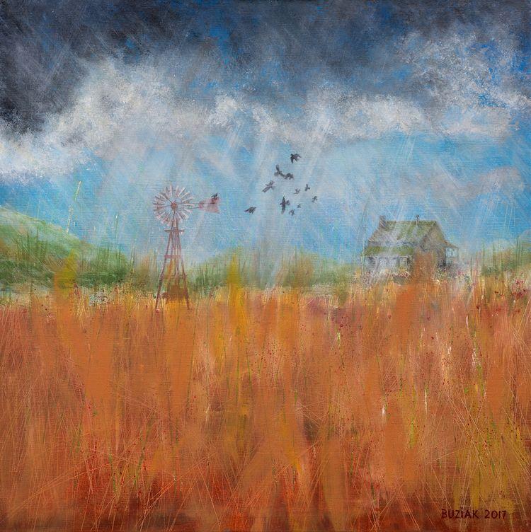 Prairie Storm oil painting line - edbuzz | ello