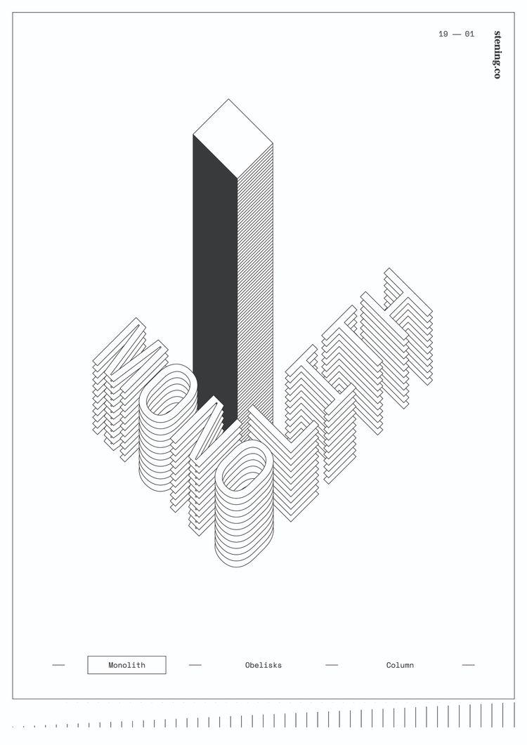 Monobelumns series — Monolith - jedstening | ello