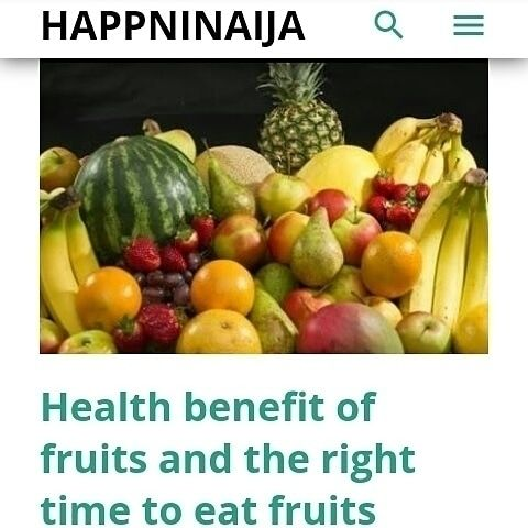 health benefits fruits time eat - sherylbakky | ello