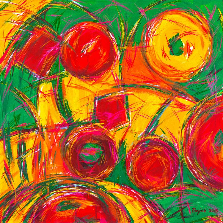 "Fruit Candy ""abstract acrylic p - edbuzz 