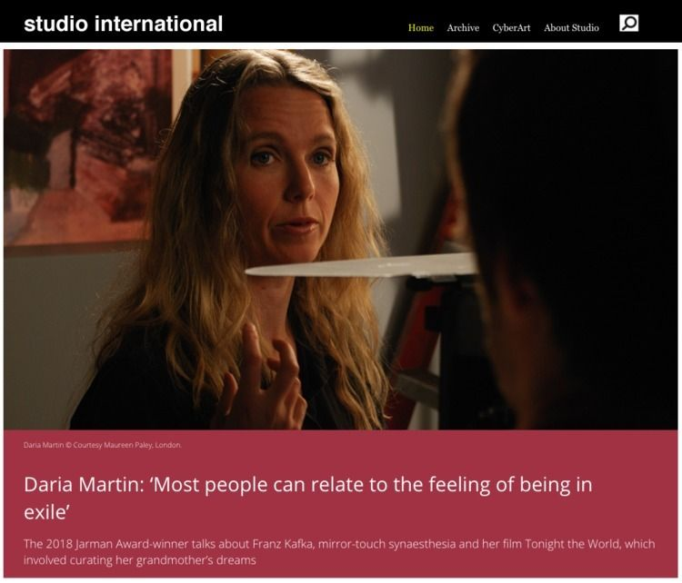 Daria Martin: people relate fee - studiointernational | ello
