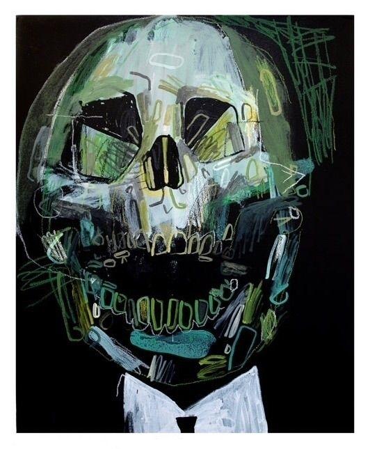 Dead man laughing 2. 100x80cm,  - carpmatthew | ello