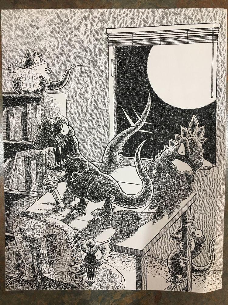 Pen ink illustration - kennethryskamp | ello