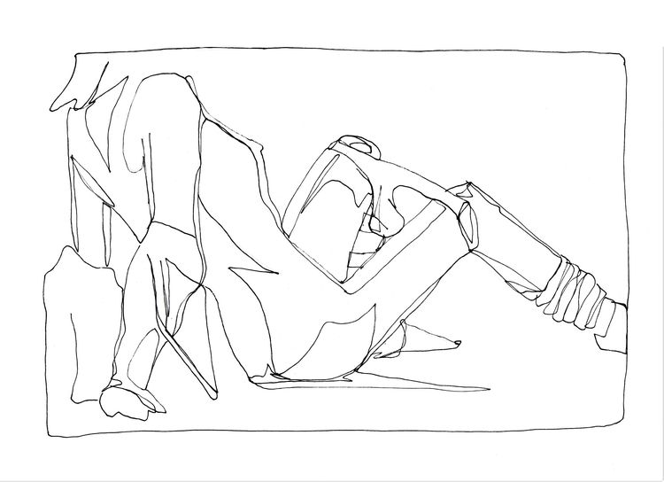 Reclining figure - scribbled, scribbles - allthingsinky | ello