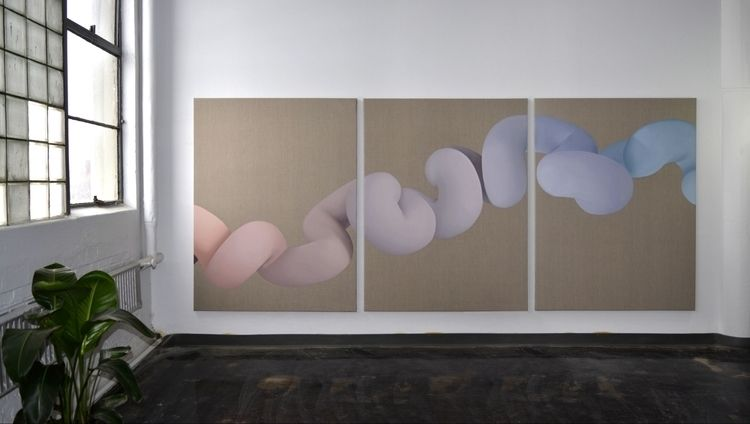 triptych Soft Body Dynamics 12 - vickiejv | ello