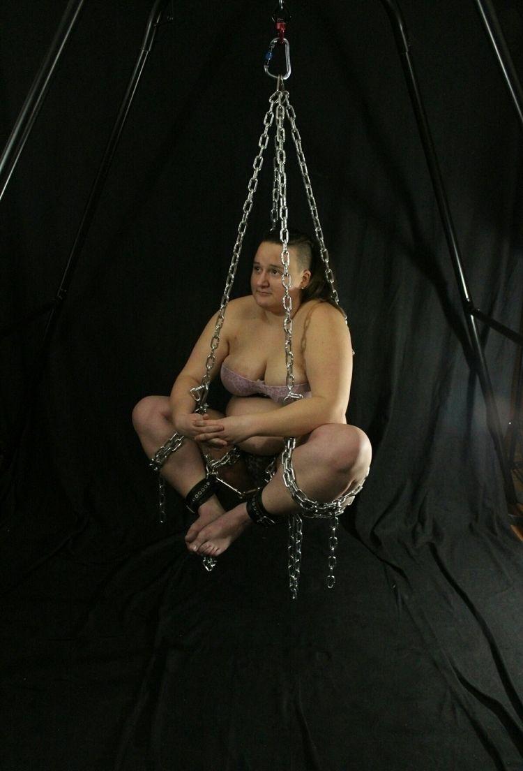 lotus posed chain suspension - bondage - _mister_ | ello