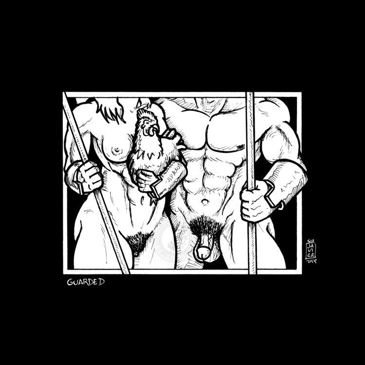 InkLATER (inktober 13: Guarded  - sirjavier | ello