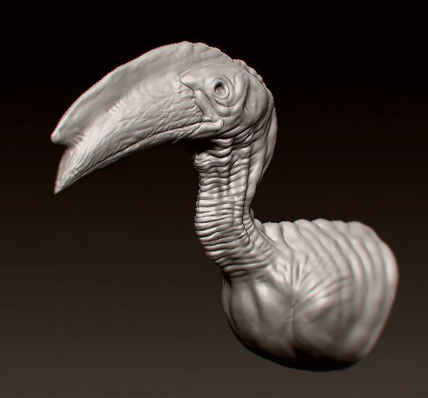 Pássaro - 3d, zbrush, art, digital - alemartins_art | ello