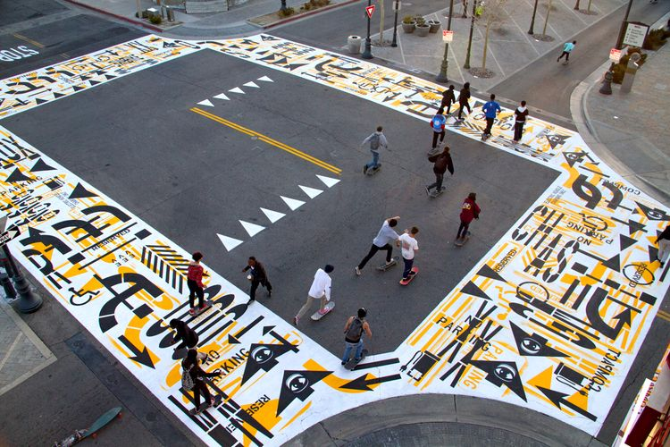 crosswalks painted 3 days roadm - theartofchase | ello