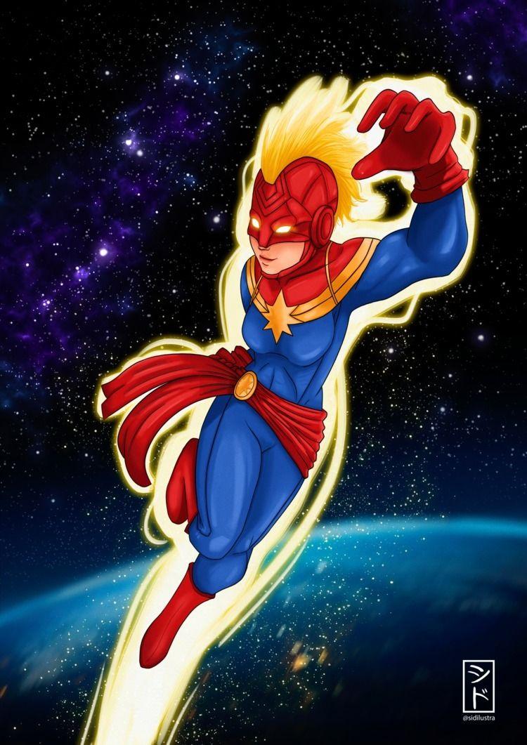 Captain Marvel Fan Art! war - captain - sidilustra   ello