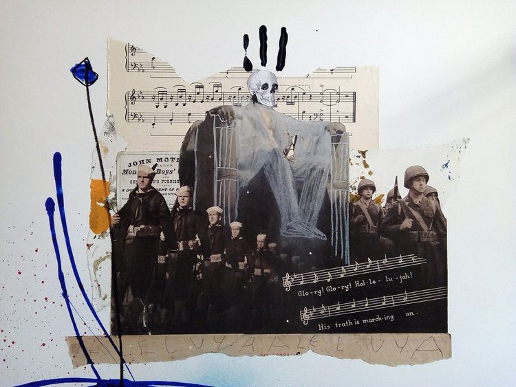 art, collage, mixmedia, unclesam - sanchezisdead | ello