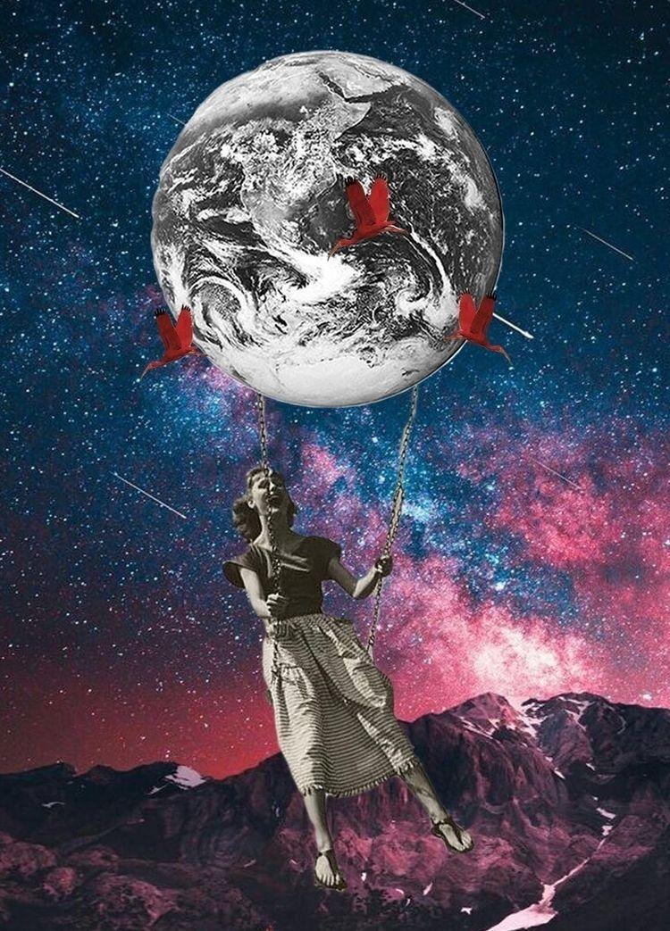 world - digitaldesign, collage, digitalcollage - sinecans | ello